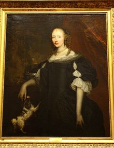 Jan de BAEN (attribué à), Femme de qualité sur fond de parc, vers 1660/1680 by Ondra Havala, via Flickr