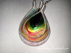 Handmade Thread Earrings String Art Inspired by by RubysHandiwork, $25.00