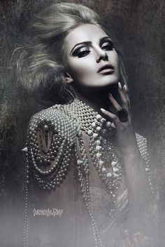 Adorned in Pearls Amanda Diaz #highfashionphotography,