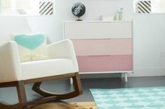a girly, modern nursery