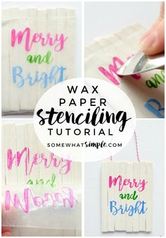 Wax Paper Stencil Tutorial No Vinyl Letter Machine? No Problem! Making a Wax Paper Stencil is a simple method that will change the way you add fonts and images to your crafts and decor! The post Wax Paper Stencil Tutorial appeared first on Crafts. Crafts For Teens, Crafts To Sell, Easy Crafts, Diy And Crafts, Sell Diy, Children Crafts, How To Make Stencils, Stencil Diy, Making Stencils