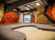 Best indoor climbing gyms in Denver – ClimberPins Indoor Bouldering, Bouldering Gym, Indoor Climbing Gym, Rock Climbing Gym, Climbing Wall, Workout Stations, Gym Design, House Design, African Colors