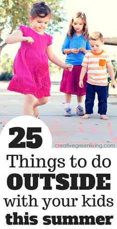 I love this awesome list of things to do outside with your children during the summer. Whether you have older kids or preschoolers, it can be hard to think of fun outdoor activities to keep them entertained!
