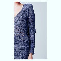 Detals dress!💙#GIOVANADIAS #giovanadiascrochetluxury🍃#coleçãoresortaqua