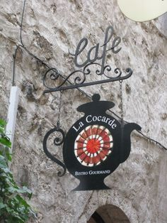 Coffee sign. St.Paul de Vence