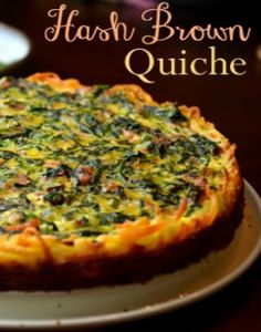Hash Brown Quiche Used shredded sweet potatoes instead of frozen hash browns. Used zucchini and spinach instead if meat. Delish!
