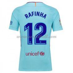 Billige Fotballdrakter Barcelona 2017-18 Rafinha Alcantara 12 Bortedrakt Kortermet