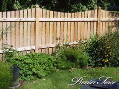 4 Ft Cedar Scalloped Picket Fence Design Backyard