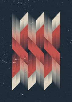 Nancy Moreira - This is an abstract shape geometric graphic design. The shape, colors, and style of this image creates an illusion of multiple images that can be seen. I can see a connection or bond between the red lines. http://patternbank.com/marius-roosendaal-abstract-geometric-graphics/