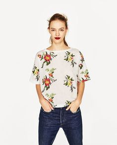 Zara EMBROIDERED T-SHIRT Found on my new favorite app Dote Shopping #DoteApp #Shopping
