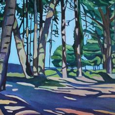 Woods at Whitford Sands, North Gower by Swansea artist Emma Cownie