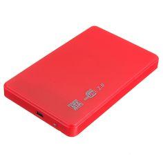 "2.5 ""SATA HDD HARD DISK HD USB 2.0 SLIM CASE BOX EXTERNAL DRIVE ADAPTER + CABLE"