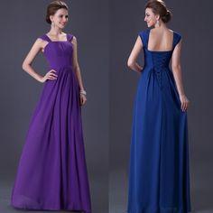Bridesmaid Long Chiffon dress
