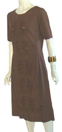 Sixties Vintage Brown Dress