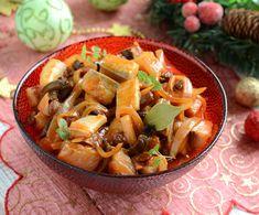 Przysmak gajowego Pasta Salad, Thai Red Curry, Potato Salad, Potatoes, Snacks, Meat, Chicken, Baking, Ethnic Recipes