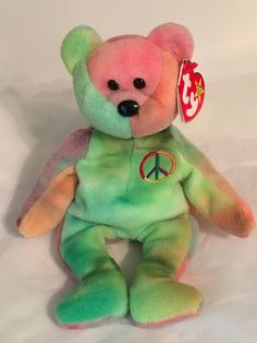 Sell Beanie Babies, Expensive Beanie Babies, Beanie Babies Value, Beanie Baby Bears, Original Beanie Babies, Ty Beanie Boos, Cute Stuffed Animals, Dinosaur Stuffed Animal, Ty Bears