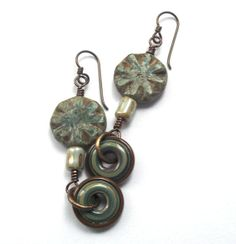 Handmade Lampwork Glass Discs by Outwest with by SheFliesAgain, $18.00