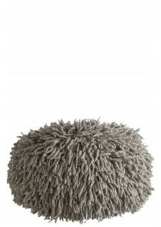 Wool Shag Pouf