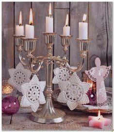 Star Christmas: crochet ornaments - with diagram Crochet Snowflake Pattern, Crochet Snowflakes, Crochet Motif, Irish Crochet, Crochet Flowers, Crochet Patterns, Crochet Ornaments, Christmas Star, Crochet Christmas