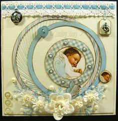 Baby Boy - Scrapbook.com  Where was this when I was looking for inspiration for the baby boy album?