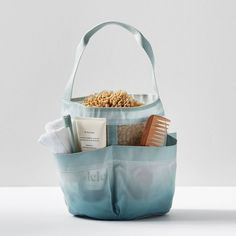 Our chic caddy keeps your shampoo, lotion, soap and other get-ready essentials organized so you can hit the shower in style. Pottery Barn Teen Recycled Ombre Classic Shower Caddies Closet Storage Bins, Classic Showers, Healthy Nights, Front Closet, Emily And Meritt, Led Shop Lights, Pb Teen, Dorm Essentials, Marble Print
