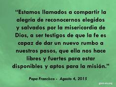 """""""Su palabra no hace vibrar las paredes, sino las fibras del corazón."""" Leer más en: http://www.news.va/es/news/dialogar-con-jesus-para-ir-hacia-los-demas-el-papa"""