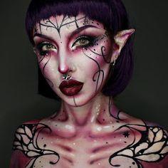 Fairy Costume Makeup, Fairy Halloween Makeup, Fete Halloween, Halloween Ideas, Halloween Contacts, Halloween 2019, Halloween Costumes, Vamp Makeup, Elf Makeup