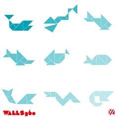 Sea creatures tangrams