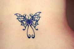 lupus butterfly tattoo Lupus Butterfly - that is how I see it & soon how I will represent as I wear it proudly! Purple Butterfly Tattoo, Butterfly Tattoos Images, Butterfly Tattoo Designs, Tattoo Designs For Girls, Tattoo Images, Purple Tattoos, Tribal Butterfly, Lupus Tattoo, Crohns Tattoo
