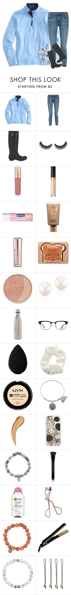 """""""she gotta bad reputation"""" by hailstails ❤ liked on Polyvore featuring Vineyard Vines, Current/Elliott, Hunter, Smith & Cult, Too Faced Cosmetics, Nivea, tarte, Lancer Dermatology, Maybelline and Anne Sisteron"""