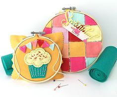 Cupcake & Patchwork Hoops by Danielle Flanders For Papertrey Ink (April 2016)