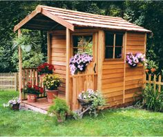 Cedar Shed Childrens Delight Cedar Playhouse - Outdoor Playhouses at Hayneedle
