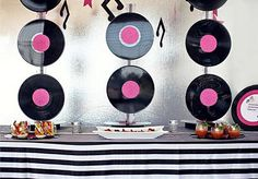 1000 images about music theme party on pinterest record for Record decoration ideas