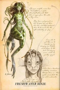 "jellyfish merfolk | Merfolk and Nixie from Arthur ""Spiderwick's Field Guide to the ..."