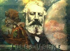 """Jules Verne (""""L'île mystérieuse"""", """"20 000 lieues sous les mers"""", """"Le tour du monde en 80 jours""""…)"""