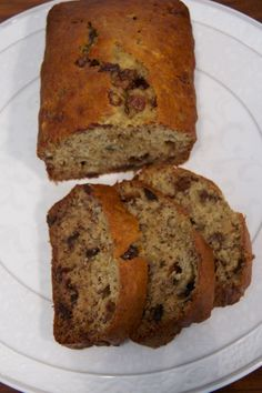 Chocolate Chip Banana Bread Recipe | Creative Pink Butterfly