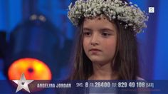"Angelina Jordan, is a 8-year old girl who is currently one of the finalists in the TV2-produced ""Norwegians got talent"". This clip, is from the semifinale in which she qualified directely for the finale with her song Bang Bang (Nancy Sinatra). Angelina has become quite known worldwide for her talent as a young singer, and this is only one of her songs."