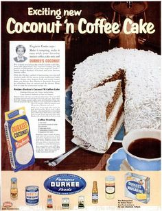 Coconut n Coffee Cake. I zoomed this to 150% and could read it just fine. This is an older recipe and it's a super delicious sounding dessert perfect for any formal or casual occasion!