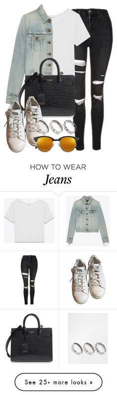 """""""Sin título #12204"""" by vany-alvarado on Polyvore featuring Topshop, Yves Saint Laurent, adidas and ASOS"""