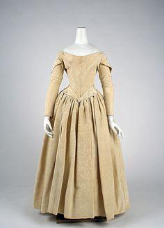 Evening dress, 1840-1845, silk, British. Met.