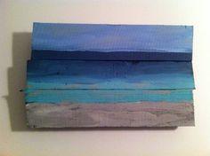 ocean/beach painting on pallet wood handpainted by CustomToYou, $29.99