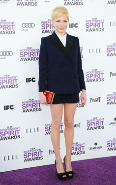 i love her outfit!  michelle williams at the 2012 independent spirit awards.