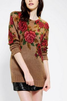 Pins And Needles Roses Sweater | Urban Outfitters