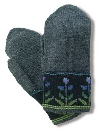 The Kukkasade mittens by TaitoPirkanmaa crafts store in Finland.