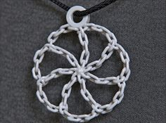 Chain Link Pendant by on Shapeways. Learn more before you buy, or discover other cool products in Pendants and Necklaces. Steampunk Necklace, Spirals, Natural Forms, Sacred Geometry, Sculpting, 3d Printing, Pendants, Organic, Inspired