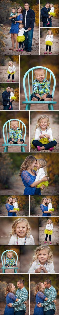 Las Vegas Family, Child, and Baby Portrait Photographer Lisa Holloway of LJHolloway Photography photographs a beautiful family of four in the Hualapai Mountains of Kingman, Arizona - near Las Vegas.