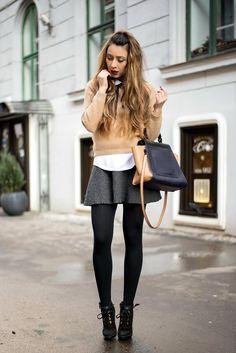 shein grey skirt