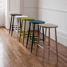 These ercol originals bar stools will compliment any home and are ideal for use at a breakfast bar. Choose from a selection of wood lacquers as well as an assortment of bold coloured finishes. #ercol #originals #barstool #luxury #handcrafted #furniture #home #kitchen #bar #homeinspo #interiors #interiordesign #decor