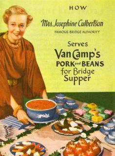 (EN) Detail of the Van Camp's leaflet, featuring Mrs. Josephine Culbertson. | (NL) detail van de Van Camp's folder, met mevrouw Josephine Culbertson.