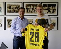 DONE DEAL: Matthias Ginter has completed his move to Borussia Dortmund, signing a five-year deal.